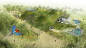 Vizualizace nového pavilonu pražské ZOO Amazonie