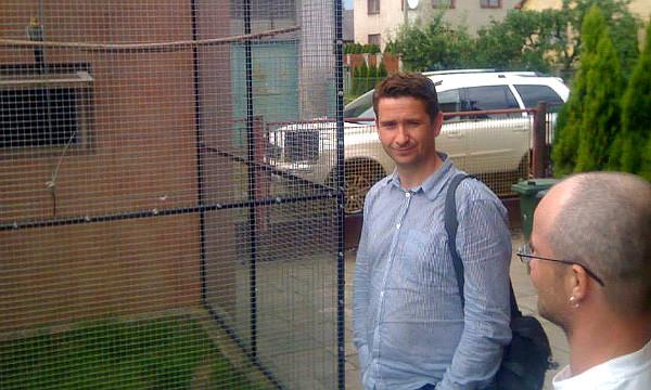 Šéfredaktor časopisu Nová Exota Jan Sojka (vlevo) rozmlouvá s Reném Poštulkou (Foto: Jan Potůček, Ararauna.cz)