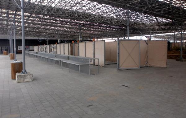 Venkovní zastřešený prostor na výstavišti Floria v Kroměříži (Foto: Výstaviště Floria)