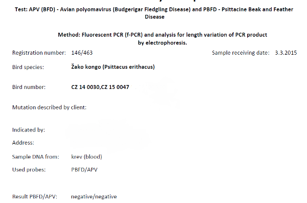 Výsledky testů na APV a PBFD (Foto: Zdeněk Krňávek)