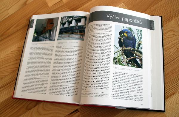 Důležitou kapitolou knihy je část věnovaná výživě (Foto: Jan Potůček, Ararauna.cz)