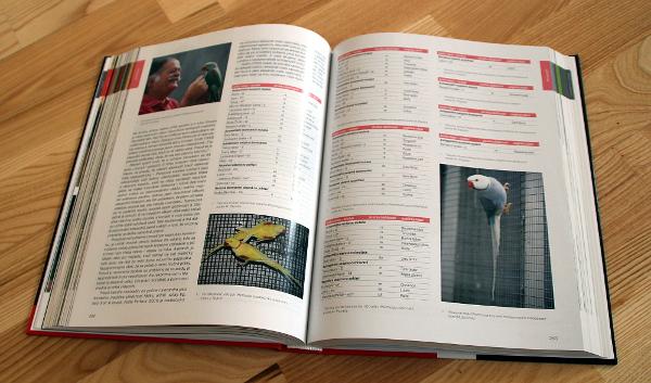U každého rodu a druhu papoušků, u kterých existují barevné mutace, je jejich kompletní soupis (Foto: Jan Potůček, Ararauna.cz)