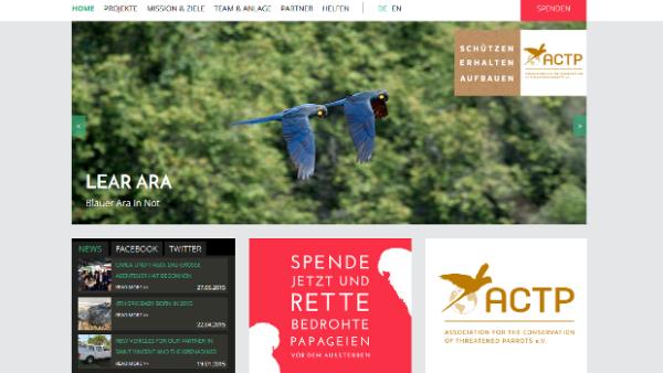 Berlínské sdružení ACTP má nový web, rozšířilo záchranné programy i na ary kobaltové