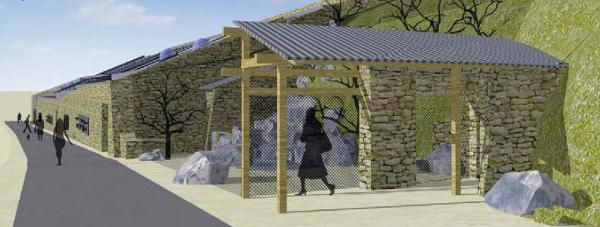 Takto by měl vypadat Rákosův pavilon zvenku (Zdroj: Výroční zpráva Zoo Praha 2014/Ateliér A.N.D.)