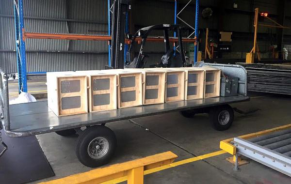 ACTP nejprve zveřejnila tuto fotografii sedmi přenosek a vyzvala své příznivce, aby tipovali, co si v nich přiváží. Zdá se tedy, že do Berlína míří sedm kakaduů hnědohlavých. (Foto: ACTP)