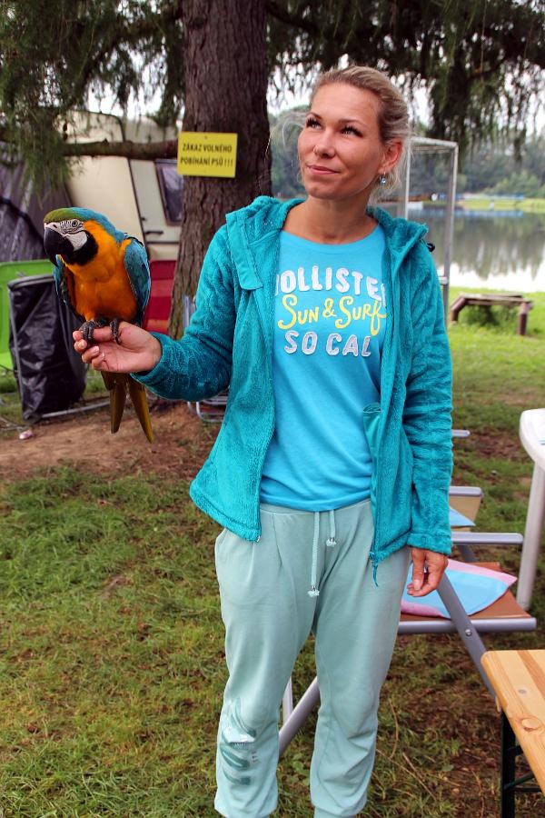 V kempu na Krásném letos tábořilo přes dvacet chovatelů s papoušky (Foto: Jan Potůček, Ararauna.cz)