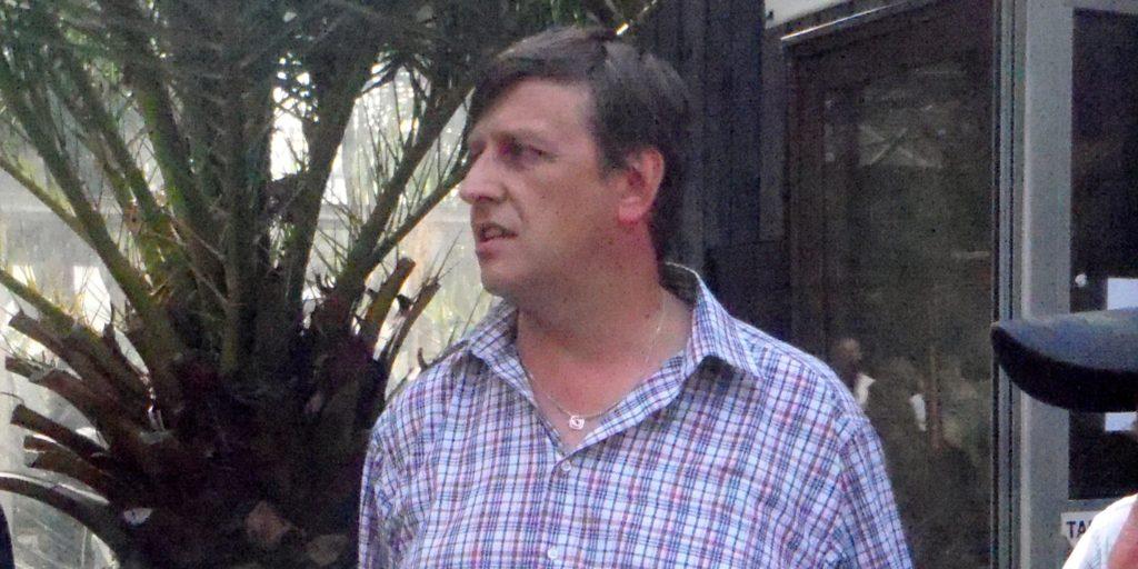 Ředitel výstavy Ladislav Žoha při slavnostním zahájení (Foto: Milena Potůčková)