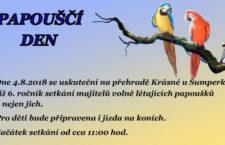 Nádrž Krásné u Šumperka v sobotu ožije celostátním srazem volně létajících papoušků. Již pošesté