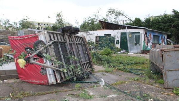 Hodonínská burza o víkendu bude, tornádo se areálu vyhnulo. Chovatelé pořádají sbírku na opravy voliér